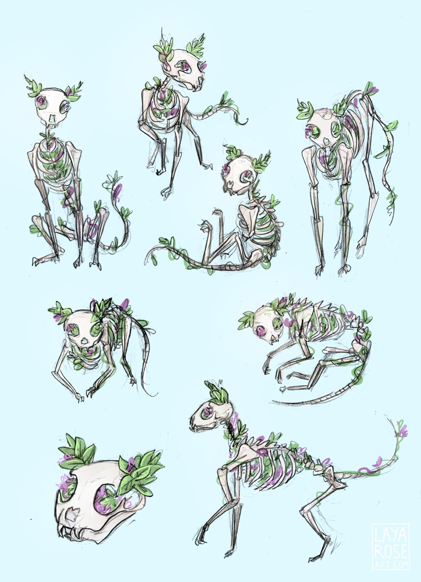 Skeleton Witch Character Design