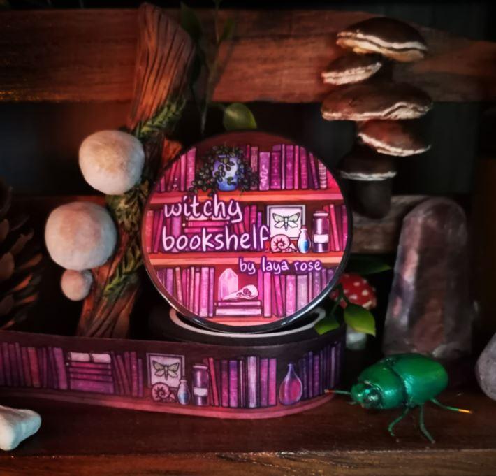 Witchy Bookshelf Washi Tape
