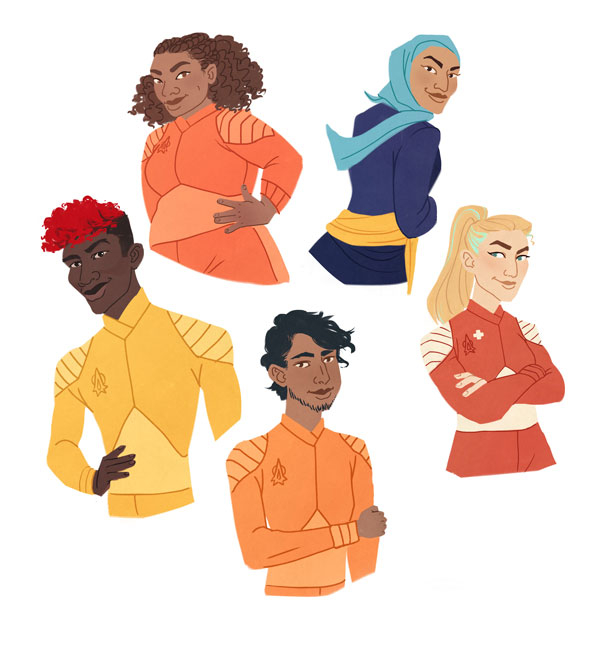 The Disasters Character Designs