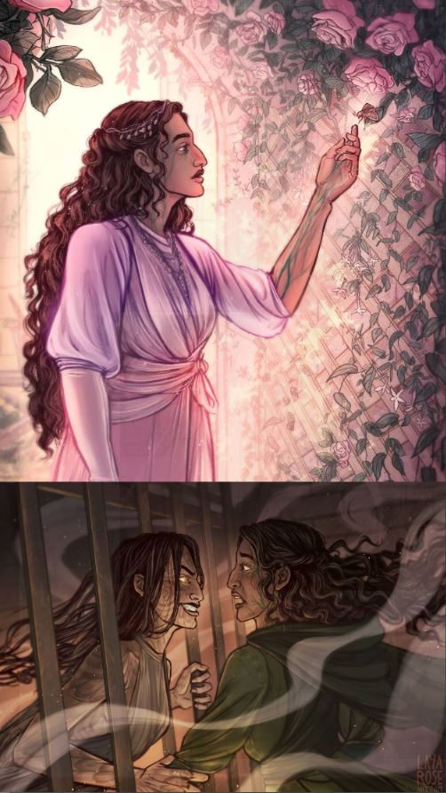 Girl, Serpent, Thorn Illustrations