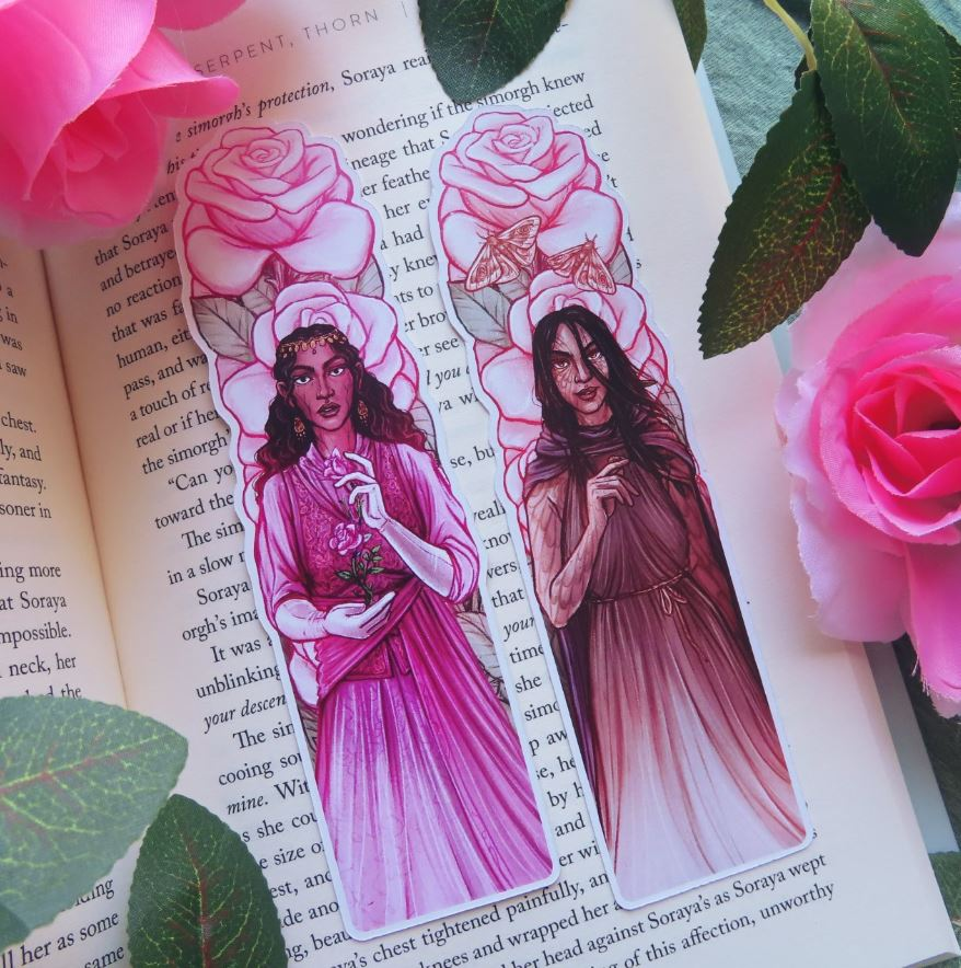 Girl Serpent Thorn Bookmarks